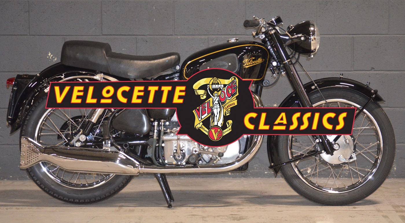 Tanks Classics Velocette Classics Logo and Velocette in background