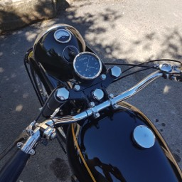 1954 Velocette MSS instrument view