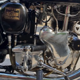 1967 Velocette MSS right side clode up engine view gearbox