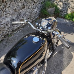 1967 Velocette MSS Clocks and handlebarr view