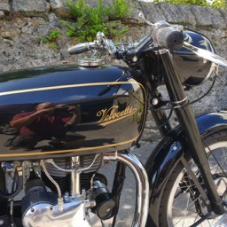1967 Velocette MSS close up tank view