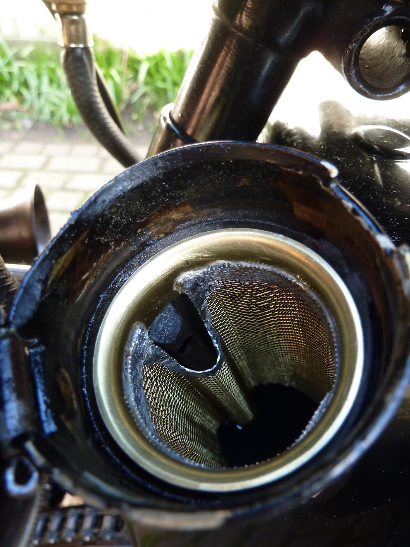 K Series Mesh Oil filter top view
